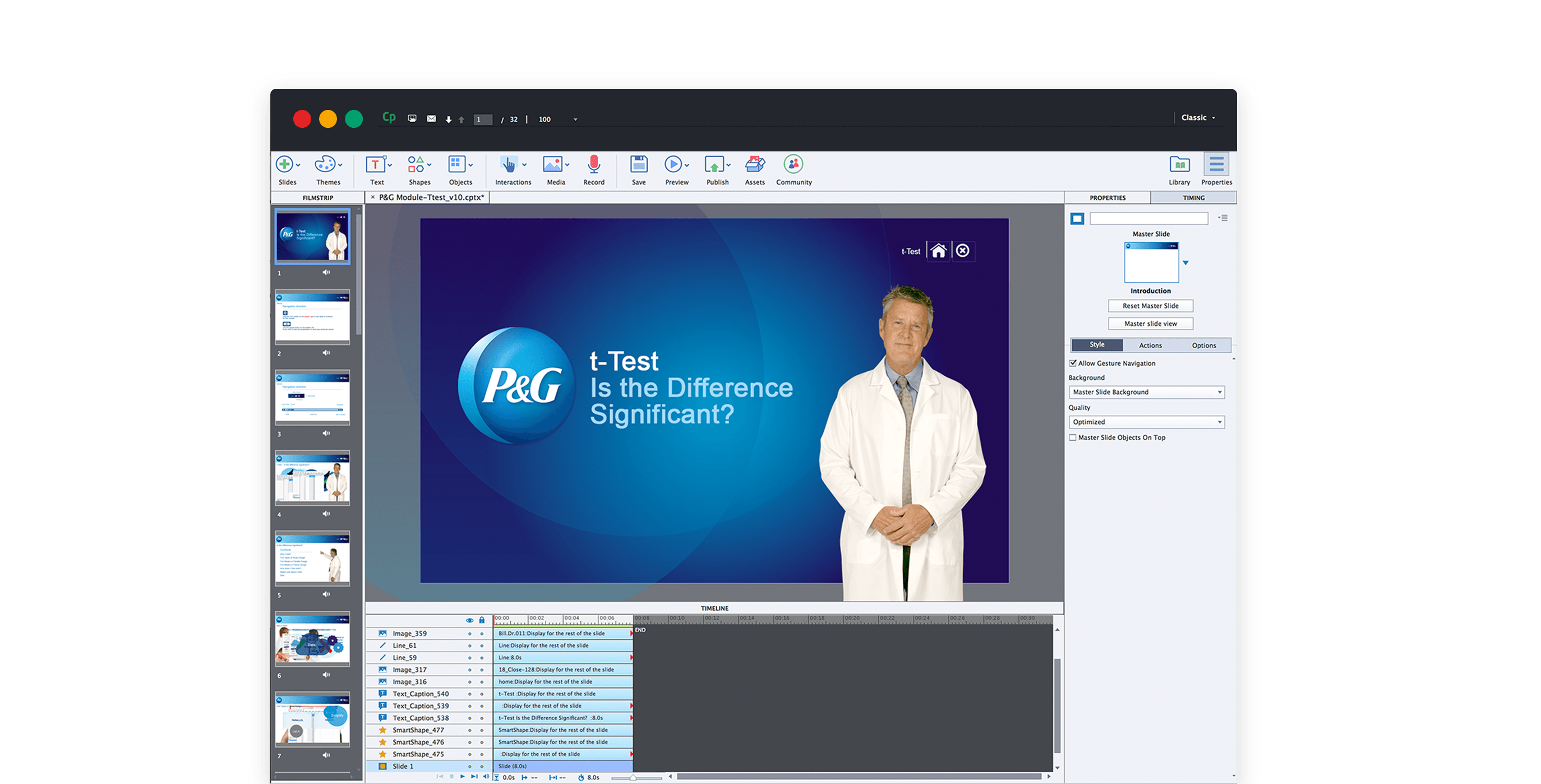 Procter and Gamble E-Learning Application 1