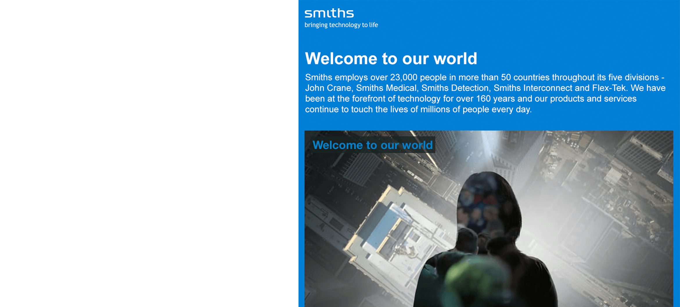 Smiths Group PLC Responsive Email 1